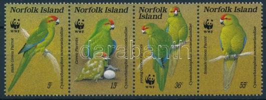 WWF Parrot stripe of 4, WWF: Papagáj négyescsík