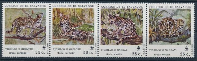 1968 WWF: Hosszúfarkú macska négyescsík Mi 1734-1737