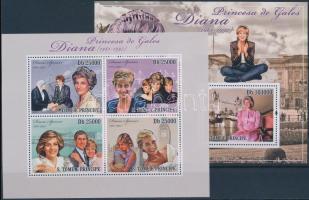 2010 Lady Diana kisív + blokk Mi 4368-4371 + 752