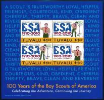 100 years of the boy scouts of America minisheet set 100 éves az amerikai cserkészet kisívsor