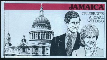 Prince Charles and Lady Diana Spencer' wedding stamp booklet, Károly herceg és Lady Diana Spencer esküvője bélyegfüzet