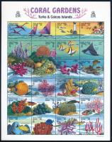 Coral Gardens' animals minisheet Korallzátony állatai kisív