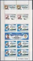 Prince Charles and Lady Diana Spencer's wedding Official mini sheet set, Károly herceg és Lady Diana Spencer esküvője Hivatalos kisívsor