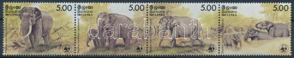 WWF Elephant set stripe of 4 WWF: Elefánt sor négyescsíkban