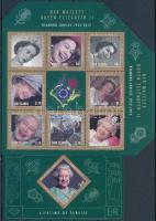 60th Anniversary of Queen Elisabeth II's enthronement mini-sheet + block, II. Erzsébet királyné trónra lépésének 60. évfordulója sor + kisív  + blokk