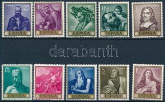 1963 Festmények (VII) sor Mi 1384-1393