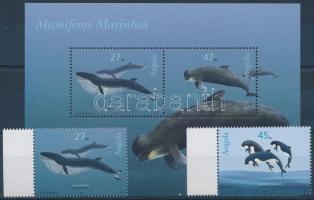 Whales margin set + block, Bálnák ívszéli sor  + blokk