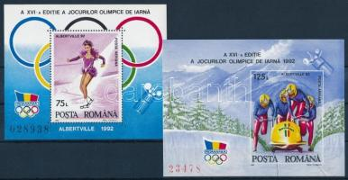 Winter Olympics blockset Téli olimpia blokk sor