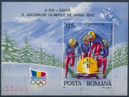 Winter olympics imperforate block Téli olimpia vágott blokk