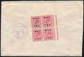 Registered cover to the USA, Ajánlott levél az USA-ba