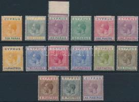1921 Forgalmi sor Mi 69-83 (71 postatiszta / MNH, 77, 79 kis betapadás / small gum disturbances)