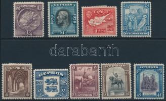 1928 50 éves a Brit fennhatóság sor záróérték nélkül Mi 108-116