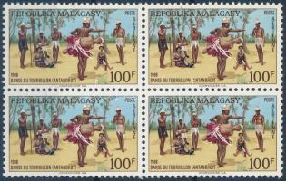 Folk Dance block of 4, Néptánc négyestömb