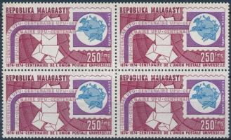 100th anniversary of the UPU block of 4, 100 éves az UPU négyestömb