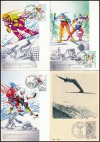 Téli sport, 10 különféle CM / Wintersport, 10 different maxicards