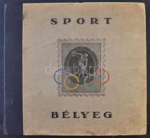 Olimpia és sport bélyegek előnyomott albuma 1896-1938, használatlan, üres / Album of Olympia and Sports issues 1896-1938, unused, empty