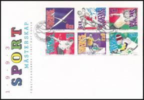 Sport stamp-booklet sheet FDC, Sport bélyegfüzetlap FDC-n