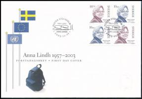 Anna Lindh set FDC, Anna Lindh sor FDC-n