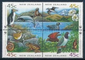 WWF Aquatic creatures 4 FDC, WWF Vízi élőlények 4 FDC-n