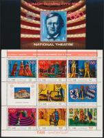 1971 Müncheni olimpia; Opera kisív Mi 1311-1317 + blokk 155