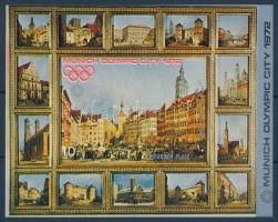 Munich Olympics imperforated block, Müncheni olimpia vágott blokk