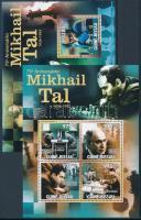 Mihail Tal, chess player mini sheet + block, 75 éve született Mihail Tal, sakkozó kisív + blokk