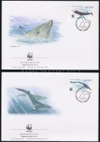 WWF: Whale set on 4 FDC, WWF: Bálna sor 4 FDC-n