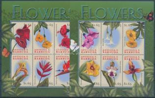 Flowers 2 diff minisheets Virágok 2 klf kisív