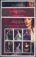Van Dyck, paintings mini sheet set, Van Dyck, festmények kisívsor