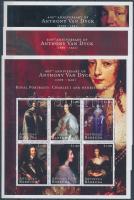 Van Dyck, paintings minisheet set Van Dyck, festmények kisívsor