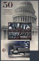 50th anniversary of Kennedy's inauguration minisheet + block, John F. Kennedy beiktatásának 50. évfordulója kisív  + blokk