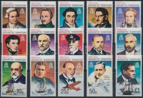 Antarctica explorers set, Antarktisz felfedezők sor