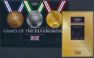 2012 Nyári Olimpia, London kisív Mi 1830-1832 + blokk Mi 187