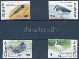 Hong Kong international stamp exhibition, migratory birds set, HONG KONG nemzetközi bélyegkiállítás, vándormadarak sor