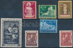 1943/1944 7 stamps 1943/1944 7 klf bélyeg