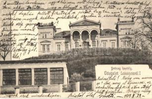 Lucenec; castle, Losonc, Lucenec; Prónay kastély. Kármán Zsigmond kiadása