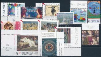 2001-2002 13 klf bélyeg, közte ívszéli és ívsarki értékek