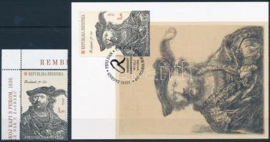 Rembrandt corner stamp + CM Rembrandt ívsarki bélyeg + CM