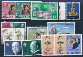 1972-1974 12 stamps, 1972-1974 12 db klf bélyeg, közte sorok stecklapon