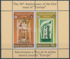 The 50th Anniversary of the first issue of Europa stamp block 50 éves az Europa CEPT bélyeg blokk