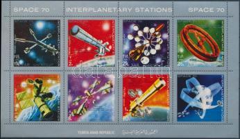 Space Research mini sheet, Űrkutatás kisív