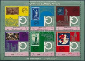 """Philatelic Exhibition """"Philympia London"""" mini sheet Filatéliai kiállítás """"Philympia London"""" kisív"""