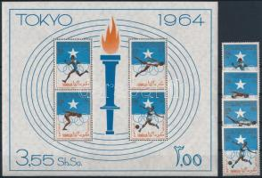 1964 Nyári Olimpia, Tokió sor Mi 60-63 + blokk Mi 1