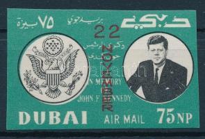 John F. Kennedy imperforated stamp, John F. Kennedy vágott bélyeg