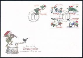Christmas set on FDC Karácsony sor FDC-n