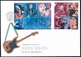 Rock Musicians set on FDC Rockzenészek sor FDC-n