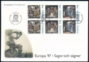 Europa CEPT stamp-booklet sheet FDC, Europa CEPT bélyegfüzetlap FDC-n
