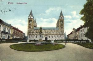 Pécs, Székesegyház, Szepessy szobor. Alt és Böhm kiadása (ázott / wet damage)