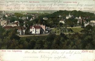 Halle an der Saale, Blick vom Galgenberg. Bad Wittekind, Zoologischer Garten. Hans Luckow / spa, zoological garden