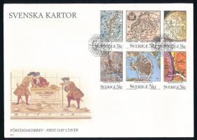 Map stamp-booklet FDC, Térkép bélyegfüzet FDC-n